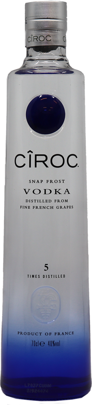 Vodka CIROC 70 cl Grappe Snap frost